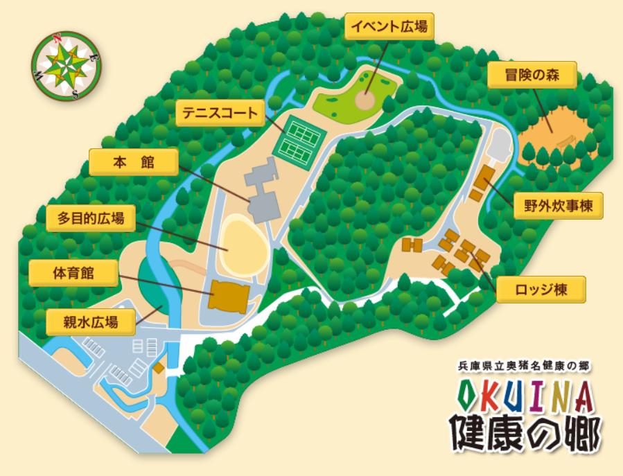 奥猪名健康の郷マップ