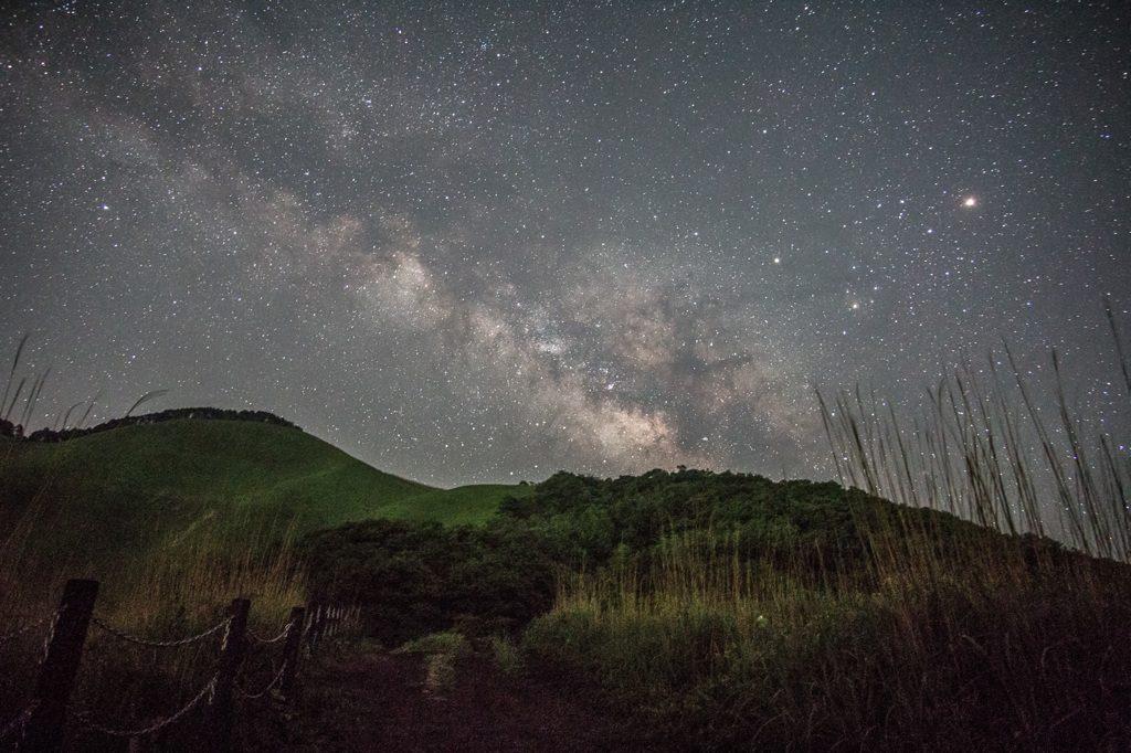 奈良県曽爾高原へ天文サークルで