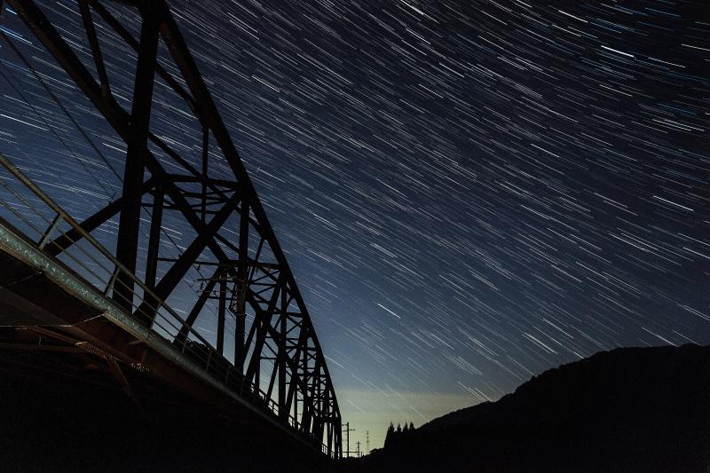 日吉ダムで天体観測