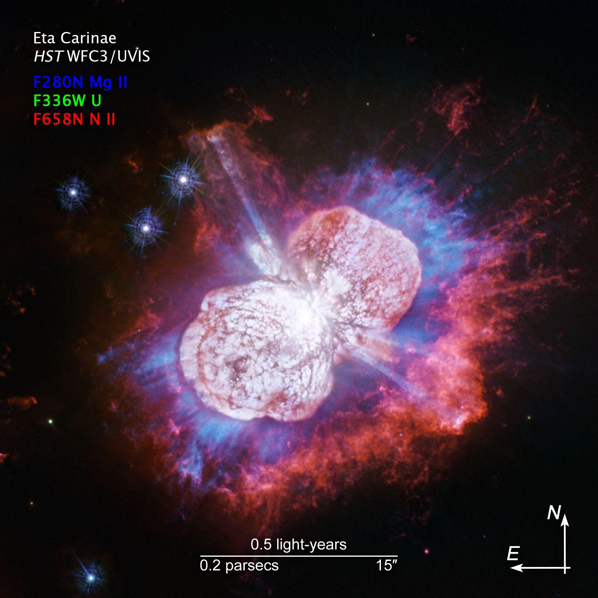 紫外線観測で見るりゅうこつ座エータ星(✍HIDA)